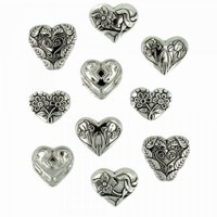 Assorted Silver Hearts