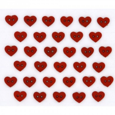 Micro Mini Red Hearts 6399